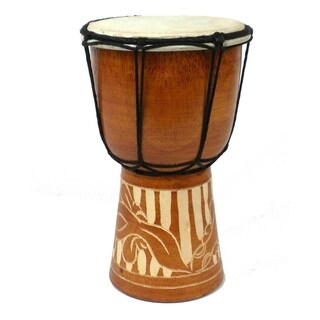 Handmade Mini 8-inch Djembe Drum - Jamtown (Indonesia)