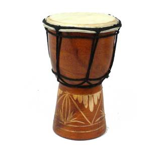 Handmade Mini 6-inch Djembe Drum - Jamtown (Indonesia)