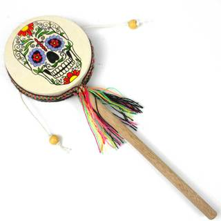 Handmade Damasas Skull Spinner Drum - Jamtown (Peru)