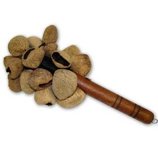 Handmade Kluwak Spice Nut Shaker Musical Instrument - Jamtown (Indonesia)