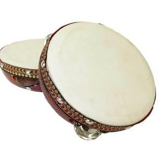 Handmade 8-inch Frame Tambourine Drum - Jamtown (Java)