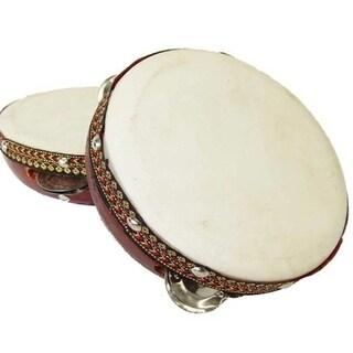 Handmade 6-inch Frame Tambourine Drum - Jamtown (Java)