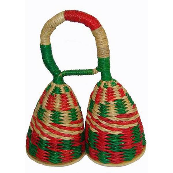 Handmade Colorful Caxixi Double Shaker Musical Instrument - Jamtown (Ghana)