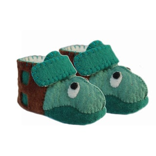 Handcrafted Felt Turtle Zooties Toddler Booties (Kyrgyzstan)