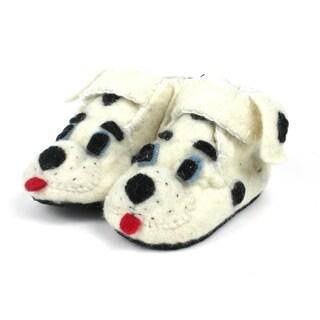 Handcrafted Felt Dalmatian Zooties Toddler Booties (Kyrgyzstan)