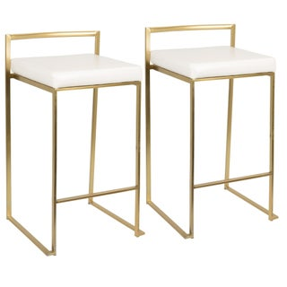 Oliver & James Krupa Gold Stackable Counter Stool (Set of 2) (5 options available)