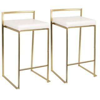 Fuji Contemporary Gold Stackable Counter Stool (Set of 2)