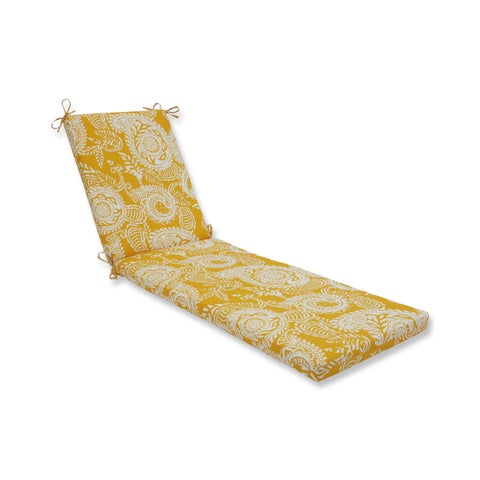 Pillow Perfect Outdoor/ Indoor Addie Egg Yolk Chaise Lounge Cushion
