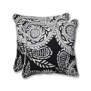 Pillow Perfect Outdoor/ Indoor Addie Night 18.5-inch Throw Pillow (Set of 2)
