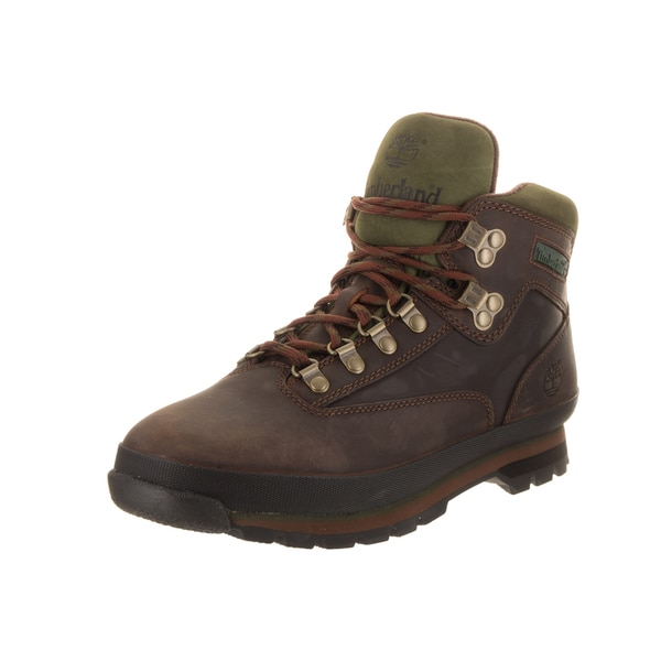 Shop Timberland Men's Euro Hiker Brown Leather Boots
