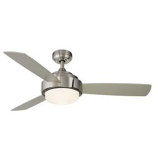 Coop Brushed Nickel 52-inch Ceiling Fan with Light Kit