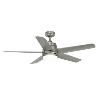 Fanimation Studio Collection Berlin Brushed Nickel 52-inch Ceiling Fan with Light Kit