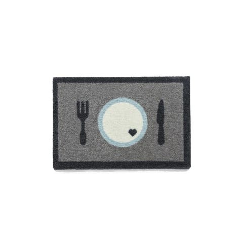 """Howler and Scratch Dinner Time Heavy-duty Washable Pet Food Mat - 1'4"""" x 2'"""