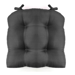 Madison Woven Cushioned 16 in. x 16 in. Chair Pad with Ties
