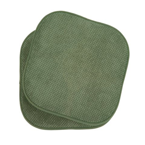 Bon Appetite Memory Foam Cushioned 17 in. x 16 in. Chair Pad (Set of 2)