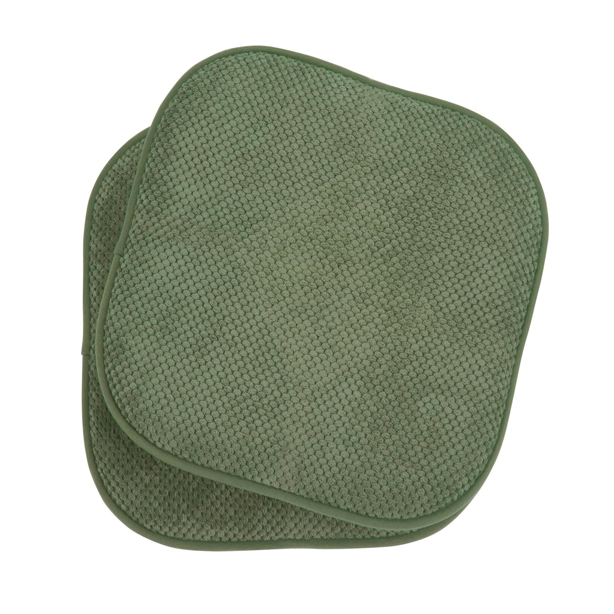 ntw solid black chair cushion seat pad 2 pc set memory foam