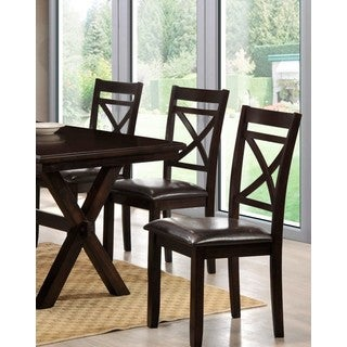 LYKE Home Padded X Back Chairs (Set of 2)