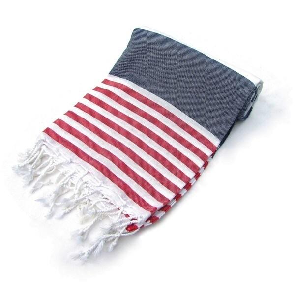 Anchor 100% Turkish Cotton Pestemal Bath & Beach Towel Indigo Blue