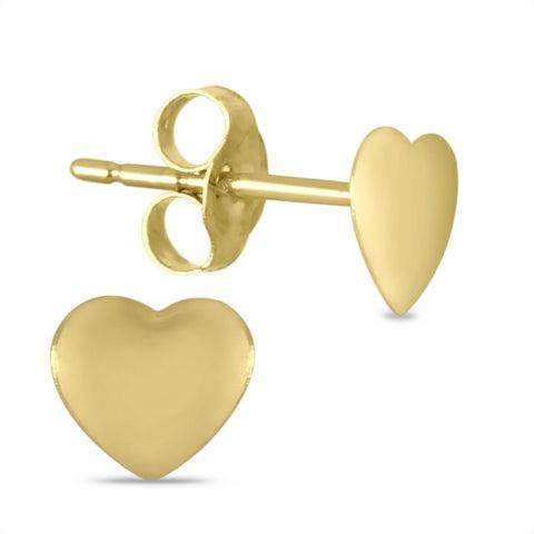 Marquee Jewels 10K Yellow Gold Heart Earrings (5 MM)