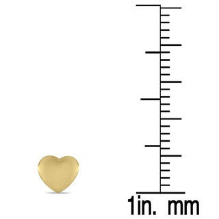Marquee Jewels 10K Yellow Gold Heart Earrings (5 MM)