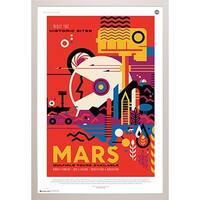 Visit Mars White Poly Frame 24-inch x 36-inch Print