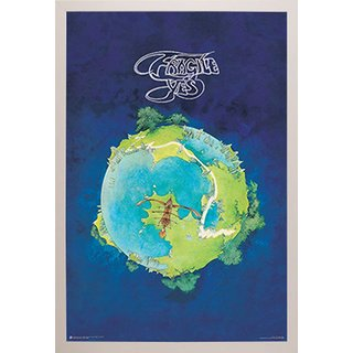 'Yes Fragile' White Simply Poly Framed Music Print (24 Inch x 36 Inch)