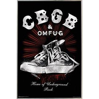'CBGB' 24-inch x 36-inch Print With Silvertone Metal Frame