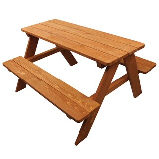 Homeware Kid\u0027s Brown Wood Picnic Table Buy Kids\u0027 \u0026 Chair Sets Online at Overstock.com   Our Best Kids
