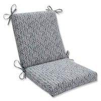 Pillow Perfect Outdoor/ Indoor Herringbone Slate Squared Corners Chair Cushion