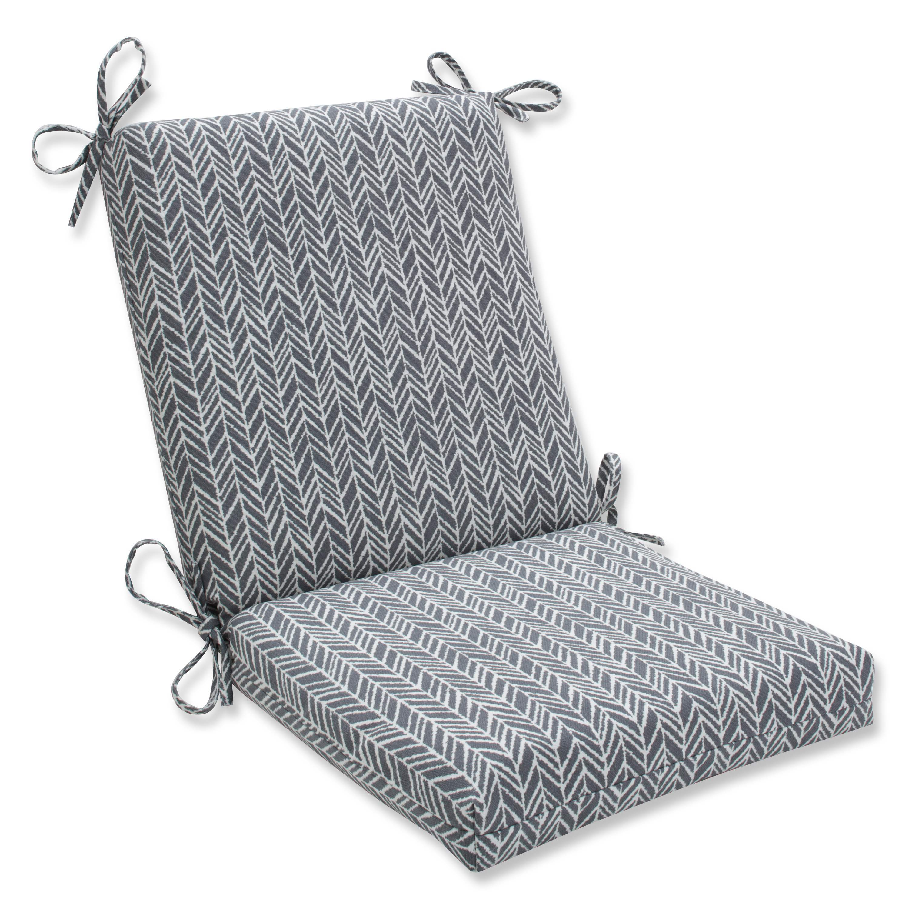 Strange Pillow Perfect Outdoor Indoor Herringbone Slate Squared Corners Chair Cushion Gmtry Best Dining Table And Chair Ideas Images Gmtryco
