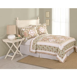 Peking Handicraft Everleigh Floral Cotton Quilt (Shams Sold Separately)