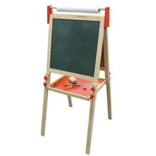 Kids Wood Double-sided Chalkboard and Dry-Erase Board Floor Easel|https://ak1.ostkcdn.com/images/products/14646438/P21184929.jpg?impolicy=medium