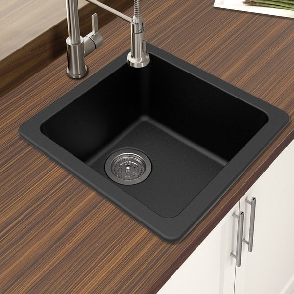 Shop Winpro Granite Quartz Single Bowl Dual Mount Bar Sink ...