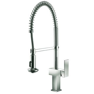 Dawn Brushed Nickel Single-lever Pull-out Spring Kitchen Faucet