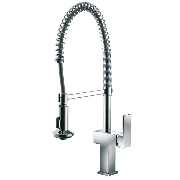 Dawn Chrome Single Lever Pull Out Spring Kitchen Faucet