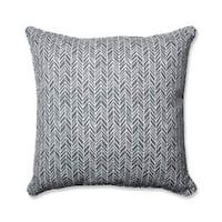 Pillow Perfect Outdoor/ Indoor Herringbone Slate 25-inch Floor Pillow