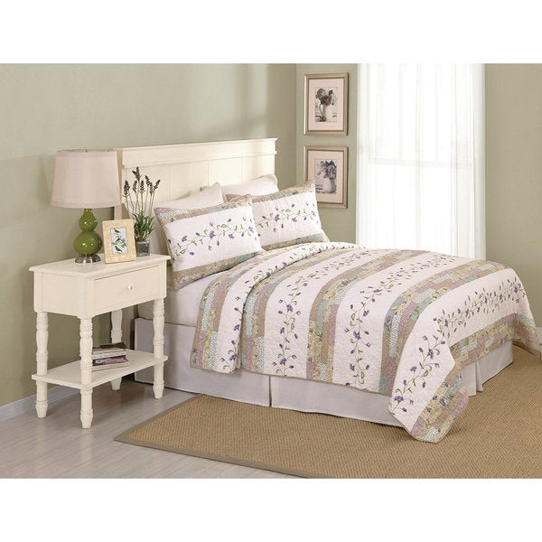 Peking Handicraft Gloria Cotton Floral Quilt (Shams sold separately)