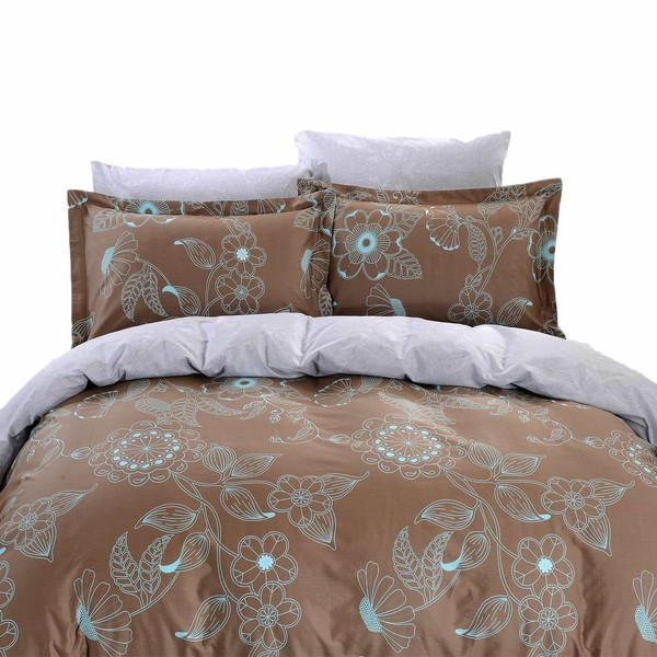 Dolce Mela Lefkada 6-piece Cotton Duvet Cover Bedding Set with Fitted Sheet