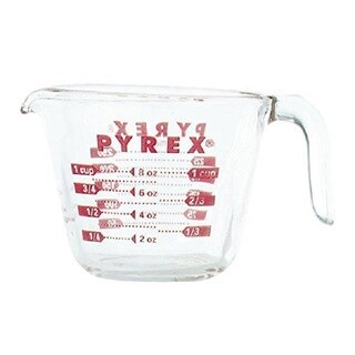Pyrex Clear Glass 1-cup Measuring Cup