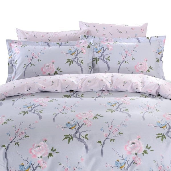 Dolce Mela Korinthos 6-piece Cotton Duvet Cover Bedding Set with Fitted Sheet