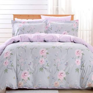 Dolce Mela Cosenza 6-piece Cotton Duvet Cover Bedding Set with Fitted Sheet