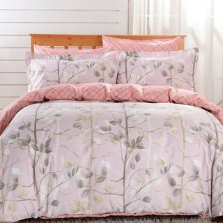 Dolce Mela Bologna 6-piece Cotton Duvet Cover Bedding Set with Fitted Sheet