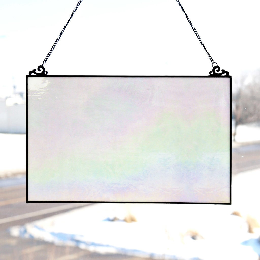 River Of Goods Stained Glass 10.75-inch Single-pane Opale...