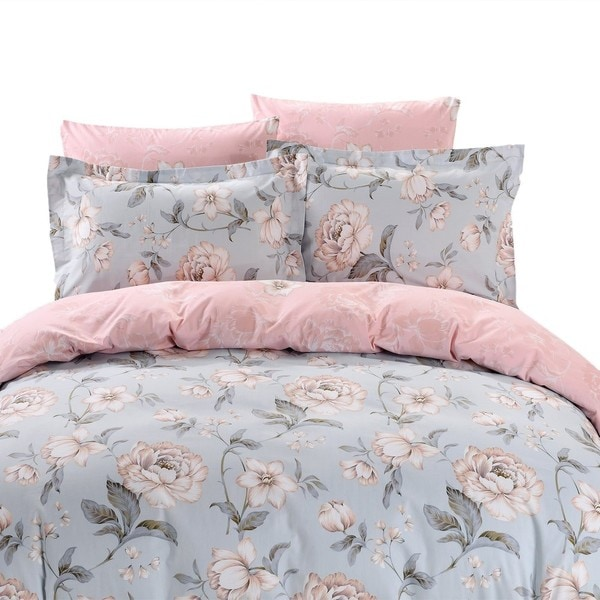 Dolce Mela Santorini 6-piece Cotton Duvet Cover Bedding Set with Fitted Sheet