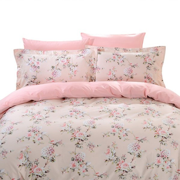 Dolce Mela Seres 6-piece Cotton Duvet Cover Bedding Set with Fitted Sheet