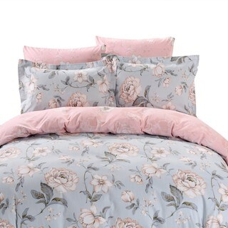 Dolce Mela Milos 6-piece Cotton Duvet Cover Bedding Set with Fitted Sheet