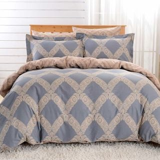 Dolce Mela Milan 6-piece Cotton Duvet Cover Bedding Set with Fitted Sheet