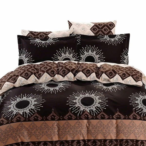 Dolce Mela Cabrera 6-piece Cotton Duvet Cover Bedding Set with Fitted Sheet