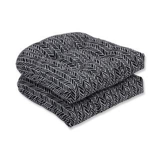 Pillow Perfect Outdoor/ Indoor Herringbone Night Wicker Seat Cushion (Set of 2)