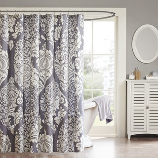 Madison Park Marcella Cotton Shower Curtain (As Is Item)